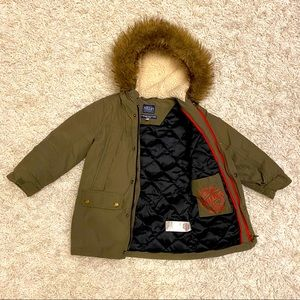 Joules Parka With Faux Fur Trimmed Hood - 4